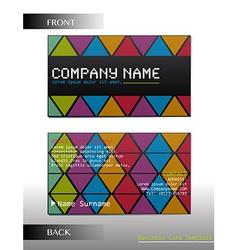A rectangular business card vector image