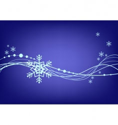 abstract blue background with snowflake vector image