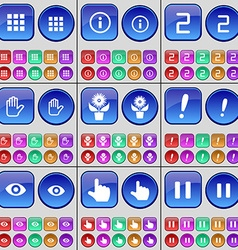 Apps information two hand flower exclamation mark vector