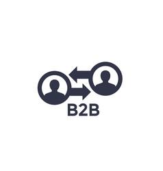 B2b icon vector