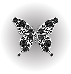 Beautiful butterfly with floral pattern vector