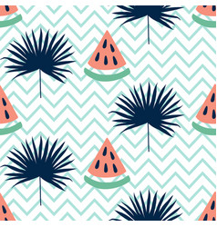 Beautiful seamless pattern with watermelon vector