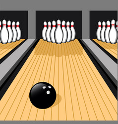 Bowling ball and bowling pins easy to edit vector