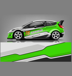 car decal wrap design graphic abstract str vector image