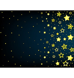 Cartoon star colored background vector image
