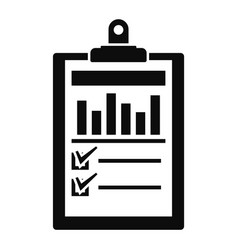 Checklist graph icon simple style vector