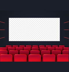 cinema screen with red seats vector image