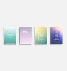 collection bright abstract polygonal vector image