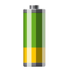 cylinder electric battery icon cartoon style vector image