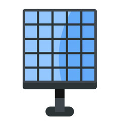 Electric solar panel icon isolated vector