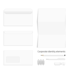 Envelope set corporate identity vector image