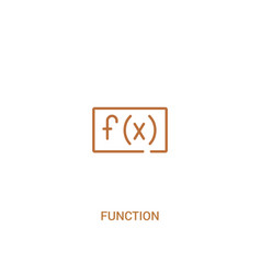 Function concept 2 colored icon simple line vector
