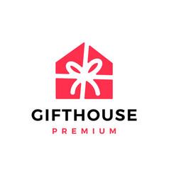 gift house logo icon vector image