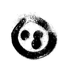 graffiti grunge spray design element in black vector image