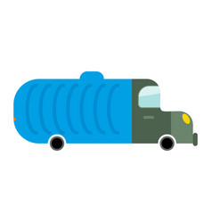 grbage truck isolated trash automobile on white vector image