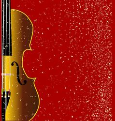 grunge violin vector image