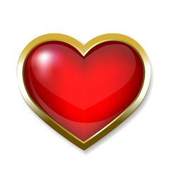 Heart icon button vector