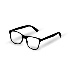 hipster glasses on white background vector image