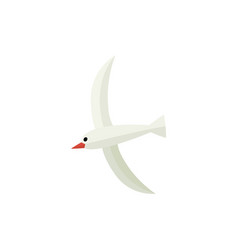 hovering seagull flat cartoon vector image