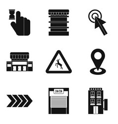 Indication icons set simple style vector