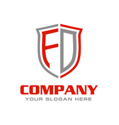Initial letter fd logo design vector