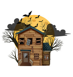 Isolated halloween abandoned house vector