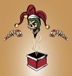 Joker Zombie Skull vector