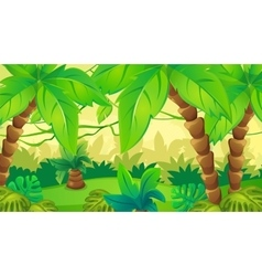 Jungle Background With Palm vector