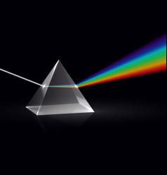 Light rays in prism ray rainbow spectrum vector