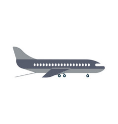 Loading airplane icon in flat design vector
