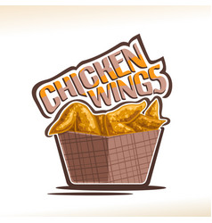 Logo for chicken wings vector