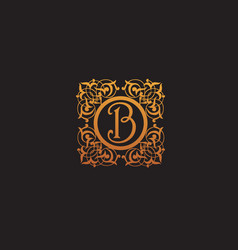 Luxury initial letter b logo vector