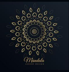 Mandala golden design in floral pattern style vector