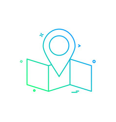 Map location navigation icon desige vector