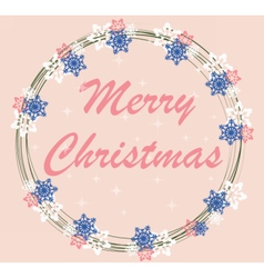 Merry Christmas Card Wreath vector
