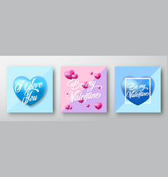 Modern typography valentines day greetings vector