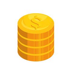 Money coins icon vector