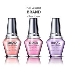 nails polish product packaging mock up vector image