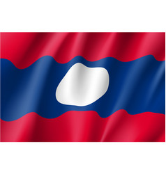 National official flag of laos vector