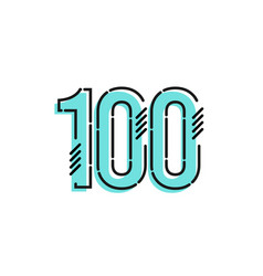 Number 100 template design design for anniversary vector