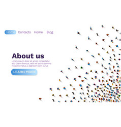 People about us web banner social communication vector