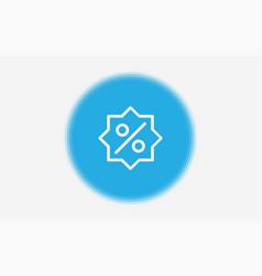 Percentage icon sign symbol vector