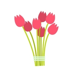 Pink tulips bouquet icon vector image