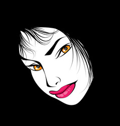 portrait a mysterious woman vector image