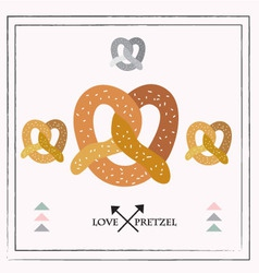 pretzel set vector image