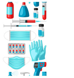seamless pattern with medical equipment and vector image
