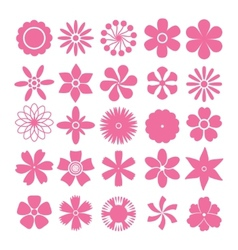 Set flowers vector