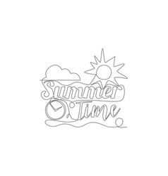 single continuous line drawing cute and cool vector image