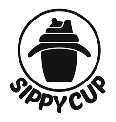 sippy cup logo simple style vector image