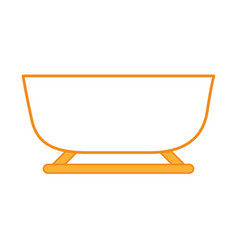 Snow sled isolated icon vector